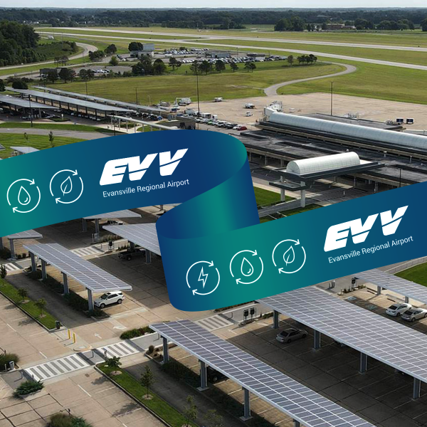 EVV COMPLETES CONSTRUCTION ON LARGEST SOLAR COVERED AIRPORT PARKING CANOPY IN THE MIDWEST